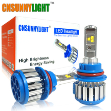 CNSUNNYLIGHT Led Car Headlight H13 9007/HB5 9004/HB1 Hi/Lo Beam Turbo Leds Auto Headlight Bulbs Xenon 6000K White Lighting Bulb