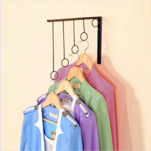 Metal Iron Ring Wall Mounted Clothes Rack Coat Hanger Display Fashion Shop Equipment 30x29cm