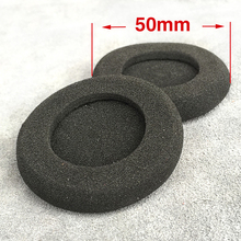 High Quality 6pcs/3pair 50mm Foam Ear Pads For Headphones PC130 PC131 PX80 PX100 H500 5cm Earbud cojines Cover Headphone Ear pad(China)