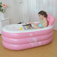 inflatable bath tub adults plastic bathtub for adult inflatable pools for adults super-sized children wash tub bath folding buck(China)