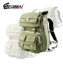 Free Shipping EIRMAI GREEN Waterproof Dslr Canvas Camera bag backpack camera bag green