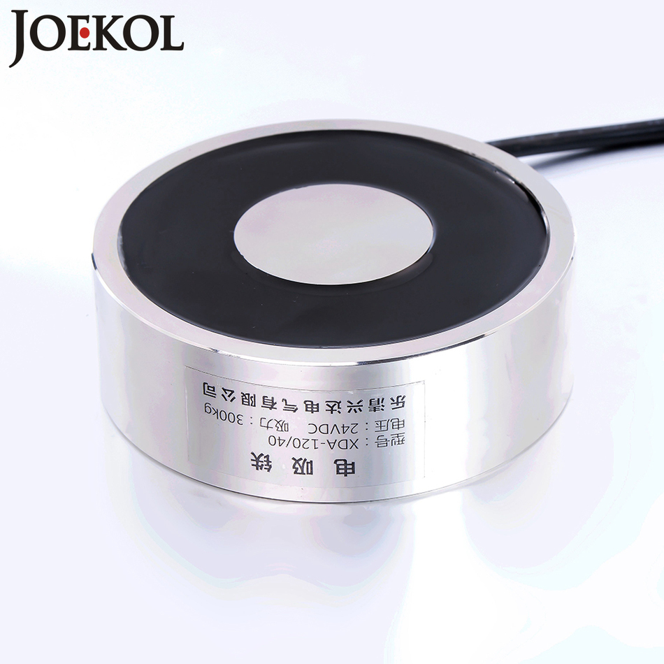 Large suction JK120/40 DC 6V 12V 24V Electromagnet Lifting 300KG Solenoid Sucker Holding Electric Magnet Non-standard custom<br>