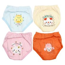 ABWE Best Sale 4 X Baby Toddler Girls Boys Cute 4 Layers Waterproof Potty Training Pants reusable 6-12m(China)