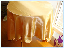 High Quality 108'' satin wedding gold tablecloth for large festival 10pcs golden table cloth