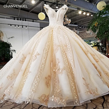 Buy LS37410 2018 new design luxury champagne color pink decorate v neck open key hole back crystal long train wedding dress for $812.69 in AliExpress store