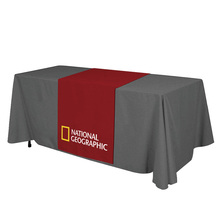 Heat transfer printing ,6' ,  three sided Table cloth, table cover, table throws with customs LOGO, indoor and outdoor use