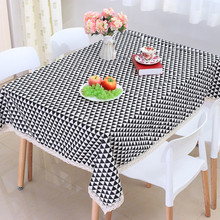 2017 New Sale Home Party Lace Tablecloth Geometric Modern Style Rectangle Cotton Table Covers Dinner Office Tables Clothes(China)