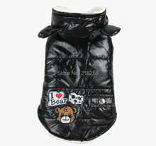 New Hoodied Lighten Bear Pic Design Pet Dogs Coat Free Ship 2014 new clothing for dog(China)