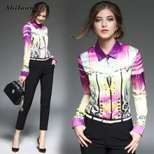 Buy Long Sleeve Summer Spring Autumn Women Blouse Print Plaid geometry Fashion Slim Shirt Top Office Female Clothing Blusas for $14.82 in AliExpress store