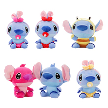 Buy 1pc sitting 20cm 6 stytles cute stich plush toys Stuffed soft animal Toy kawaii children birthday Christmas gift doll for $4.28 in AliExpress store