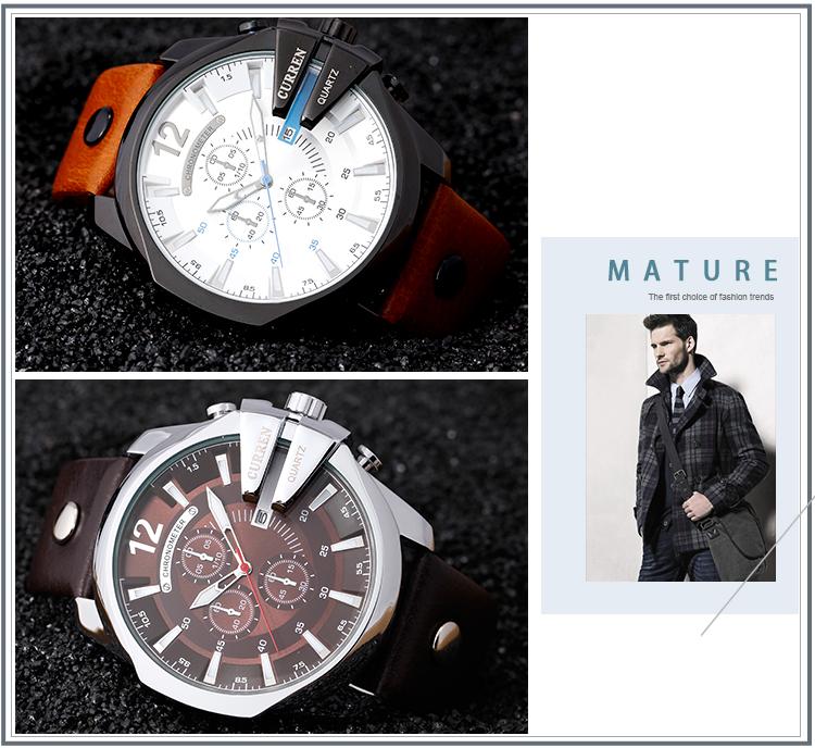 18 Style Fashion Watches Super Man Luxury Brand CURREN Watches Men Women Men's Watch Retro Quartz Relogio Masculion For Gift 16