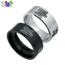 PS4 GTA 5 rings Game Grand Theft Auto 5 Stainless steel metal ring men Jewelry Flying bullying charms souvenirs fashion bague