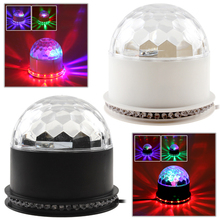 New Arrive Stage Lights Laser Projector LED Rotated Base Voice-Activated Led Crystal Magic Ball Light Disco DJ Free Shipping(China)