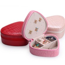 Convenient Princess Showed Small Jewelry Box Travel Makeup Bag Necklace Pendant Earrings Ring Storage Boxes(China)
