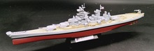 AMER 1:1000 World War II, Wisconsin, USA, A Hua class battleship model Collection model(China)