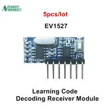 5 pieces 433mhz RF Receiver Learning Code Decoder Module 433 mhz Wireless 4 Channel output Diy kit For Remote 1527 encoding