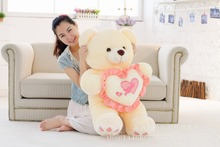 large toy hugged love heart teddy bear plush toy birthday gift w5448(China)