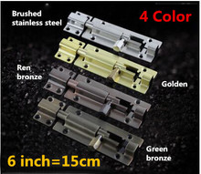 15cm Stainless Steel 4 Color Toilet Door Latch Security Door Guard Lever Action Flush Latch Slide Bolt Gate Lock