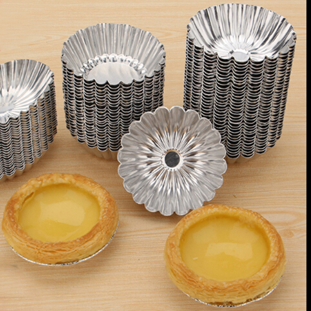 New Cake Tools Aluminum Cake Egg Tart Biscuit Mold Kitchen Bakeware Tins Diy Tools chocolate mold cupcake stand(China (Mainland))