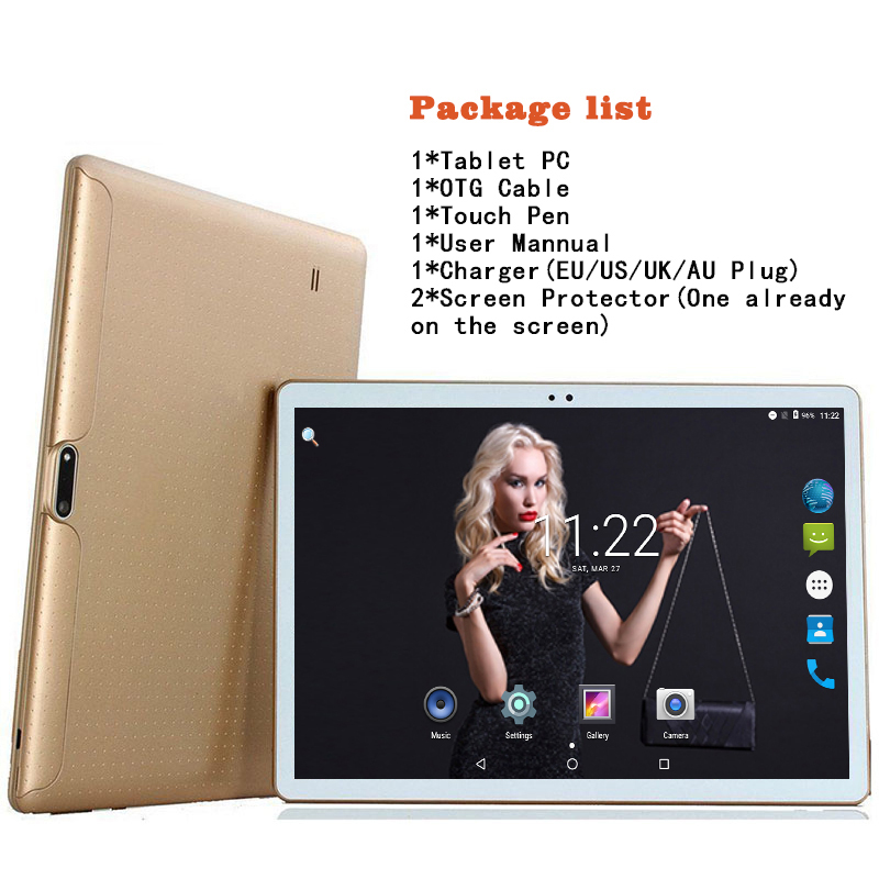 2018 New DHL Free 10 inch Tablet PC Octa Core 4GB RAM 64GB ROM Dual SIM Cards 3G WCDMA Android 7.0 GPS Tablet PC 10 10.1 +Gifts(China)
