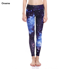 Onseme Women Leggings Hot Galaxy Star Purple Slim Pencil Pants Casual Legging Adventure Time LegginS For Academy Girls