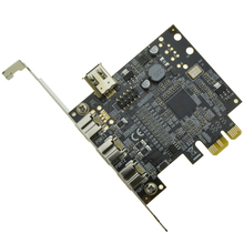 3 ports 1394B + 1 shared 6Pin 1394A PCI-e Controller card PCI express to external Firewire 800 IEEE 1394b Port
