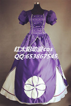 Free shipping new Adult Clothing dress Sofia the First  Princess Cosplay costume for women/party /christmas