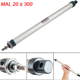 Pneumatic 20mm Bore 300mm Stroke Dual Acting Piston Air Cylinder<br><br>Aliexpress