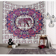 Indian Mandala Tapestry Hippie Wall Hanging Blue Bohemian Bedspread Dorm Decor Home Textile(China)