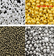 (1000Pcs/lot )3mm Dia Pick 4 Colors Jewelry Findings Smooth Ball Spacer Beads  (w02938)Free Shipping!