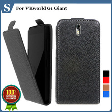 Factory price , Top quality new style flip PU leather case open up and down for VKworld G1 Giant, gift