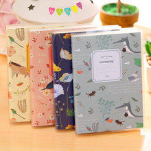 1 Pc Cute Mini Vintage Flower Notebook Lovely Animal Notepads for Kids Gifts Korean Stationery(China)