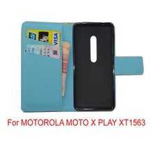For MOTOROLA MOTO X PLAY XT1563 lovely Cartoon pu leather wattet cell phone cover Case with free gifts mini stylus