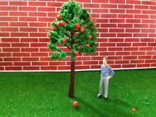 8cm HO Train Layout Miniature Model Trees Green Street red color apple tree, fruit tree in the mountain(China)