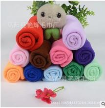 30 * 30cm Practical multicolor small square microfiber fabric towel glass car cleaning dish towel compressed towel 50pcs/lot