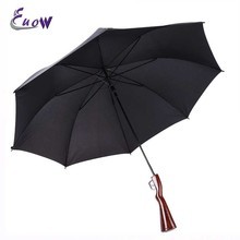 Rifle Handle Windproof Automatic Umbrella Creative Sun Rain Straight Large Black Umbrella 8k(China)