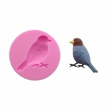 Free Shipping Cute bird Silicone Fondant baking Paste Mold DIY Cake Decorating Polymer Clay Resin Candy Fimo Super Sculpey