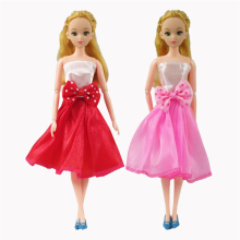 1 Pcs Fashion Short Barbie Doll Dress Beautiful Handmade Party Doll Clothes For Barbie Dolls Dress For Kids Best Gift #001D