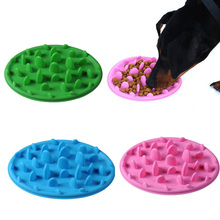 Dropshipping Dog Cat Slow Eating Feeder Anti Choke Pets Bowl Feed Dish Puppy Silicone Gulp(China)