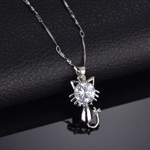 Terreau Kathy 2017 New Sweet Simple Zircon Cat Star Flowers Dolphin Crown Section Statement Necklace For Women Students Gift(China)