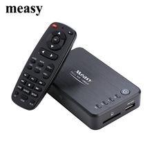Measy A1HD Multimedia Portable 3D HDD Player Full HD 1080P Player MKV H.264 HDMI USB HOST SD with Remote Control
