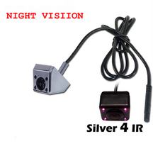 Free Ship HD CCD Chip Night Vision 4 IR Car Rear View Camera Backup Camera Reverse For parking camera Rearview Factory Promotion(China)