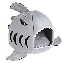 Warm Soft Cat House Winter Pet Sleeping Bag Beautiful Shark Dog Kennel Cat Bed Puppy Small Dog Cushion Sofa pet products(China)