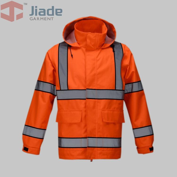 Jiade Adult High Visibility Jacket  Long Jacket  Mens Work Reflective Jacket<br>