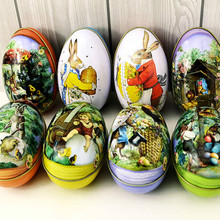 Brand new 8pcs different design 6.3x4.4x5cm Fashion Wedding Supplies Candy Packaging Candy Box Tin trumpet Easter Day EggS(China)