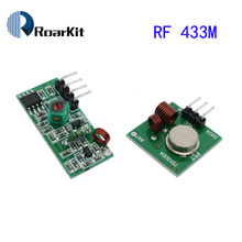 RF wireless receiver module & transmitter module board for arduino super regeneration 315/433MHZ DC5V (ASK /OOK) 10pair =20pcs(China)