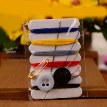 100Sets Mini Sewing Kit Portable Needle Thread Button Pin Set Travel Household Tools Kit Hotel Hand Sewing Bags(China)