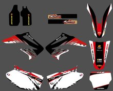 0093 Power New Style TEAM GRAPHICS&BACKGROUNDS DECALS STICKERS Kits for  Honda CRF450R CRF450 2002 2003 2004