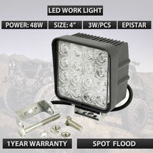 4inch 48W Flood Led Work Light 4X4WD Off Road Driving Boat Truck Suv ATV car led headlights