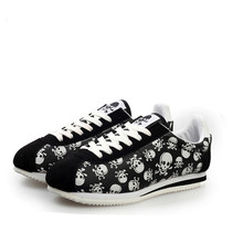 2017 Spring Summer Luxury Brand Casual shoes,light Originality Skull Heads Print Cortez Hip Hop Flat Shoes(China)